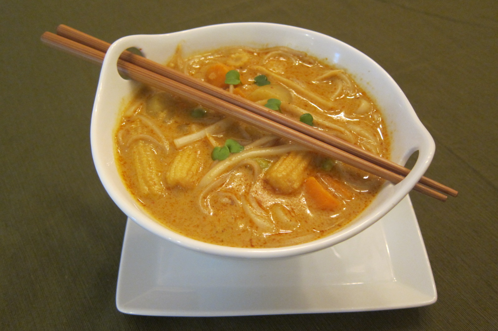 Spicy Thai Noodle Curry Soup with Sweet Potato and Edamame | Priyanka ...