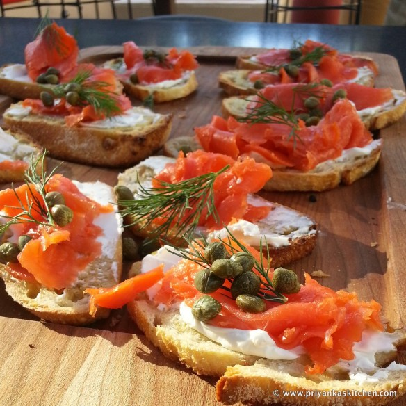 smoked salmon crostini PK